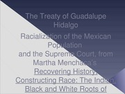 Menchaca, Race and the Treaty of Guadalupe HIdalgo