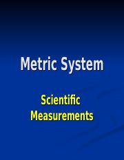 Metric System revised.ppt