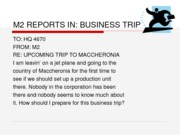 M2 REPORTS IN - BusinessTrip