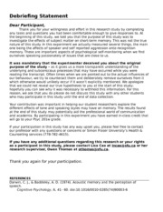 How to write a debriefing statement resume for office