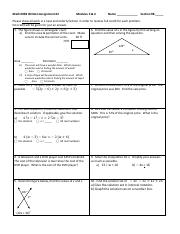 Math 0098 Written Assignment #2