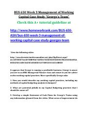 BUS 650 Week 3 Management of Working Capital Case Study.doc