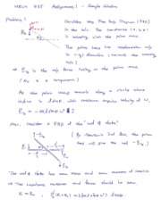 MECH 335 - Assignment 01 Solutions