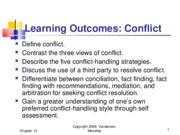 Chapter 12 - Conflict