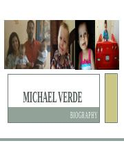 MichaelVerdeBioPresentation