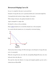 Downward Sloping Curve D
