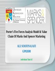 Five Forces Analysis & Value Chain Of Marks And Spencer Marketing.ppt