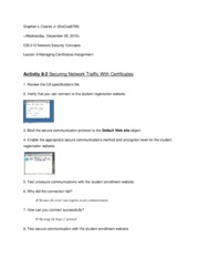 Lesson 8 Managing Certificates Assignment