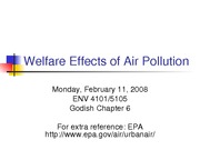 Welfare Effects of Air Pollution - Full