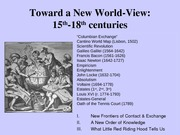 Toward a New World-View