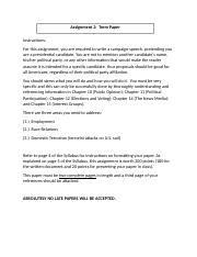 Assignment 2 - Term Paper