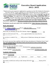 Habitat Exec Application