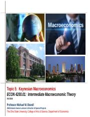 ECON 4002.01 Topic 5 Keynesian Macroeconomics.ppt