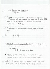 4-1 Ratios and Proportions Notes