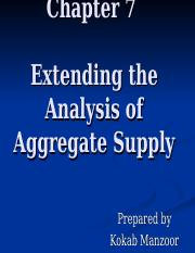 Chapter 7 Extending the Analysis of Aggregate Supply.ppt