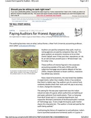 Paying Auditors for Honest Appraisals-Wessel-WSJ-07-18-2013
