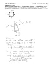 Stresses on Inclined Plane Problem Set
