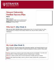 student success plan example