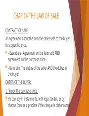 UNIT 10 -  THE LAW OF SALE.pptx