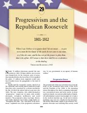 chapter 29 progressivism and the republican roosevelt