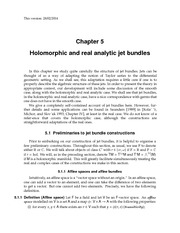 Holomorphic and real analytic jet bundles