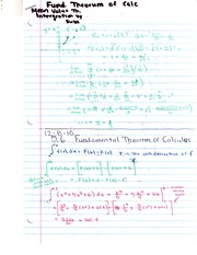 Fund. Theorum of Calculus and Mean Value Theorum