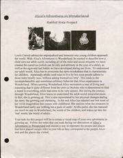 11th grade Literature Rabbit hole Project