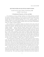 lect notes on quantum computation