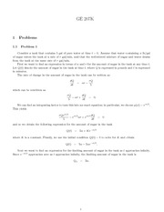 First Order Equations- Solution