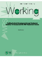 Working Paper 158 - Tackling Graduate Unemployment through Employment Subsidies An Assessment of the