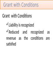 Grant  with Conditions