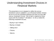 6 Understanding Investment Exposures