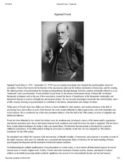 530 Session I - Sigmund Freud - Early Motivation Theories  from Freud and Beyond - T. Head