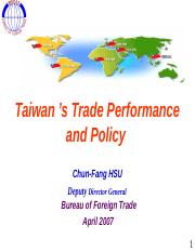 Taiwan+%e2%80%99s+Trade+Performance+and+Policy+