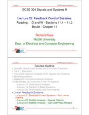 Lecture 22- Feedback Control Systems