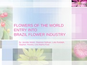Flowers of the World. Final