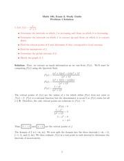 Exam 2 Study Guide on Calculus 1