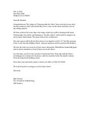 Business or Cover Letter Sample 1