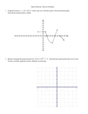 Math 106 Exam 2 Study Guide 2012