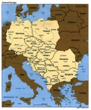 Contemporary Map of Central and Eastern Europe (1)