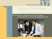 Q - RIGHTS OF THIRD PARTIES