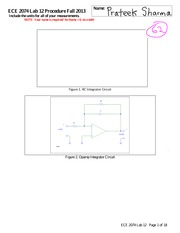 ECE 2074 Lab 12 Integrator (Make-up) Worksheet