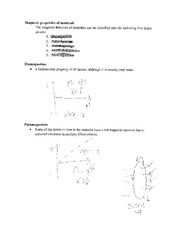 Homework on magnetic properties of materials
