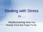 Dealing with Stress- power point