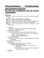 Acknowledging, Paraphrasing, and Quoting Sources.docx