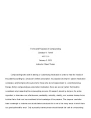 HCP 210_Checkpoint_Forms and Purposes of Compounding