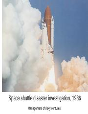 Space shuttle disaster investigation, 1986 WK3_MC.pptx