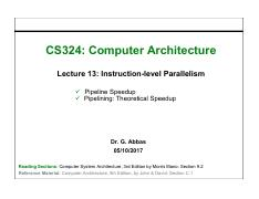 13. Instruction-level Parallelism Pipeline Speedup, Theoretical Speedup.pdf