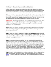 1113 Essay 4 Evaluative Argument Guidelines
