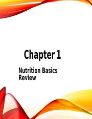 1 - Ch 1-Nutrition Review -student version